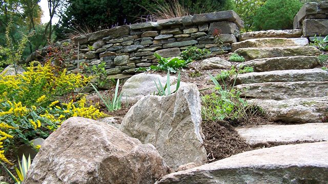 New England Fieldstone Steps