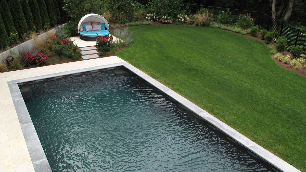 A Bird's Eye View of the Pool From the Dining Deck