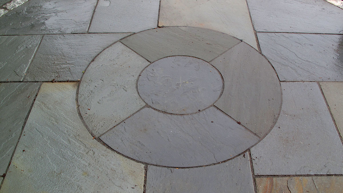 Circular Bluestone Detail, Cut On Site